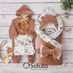 Комплект на выписку демисезонный (6 предметов) Sofuto baby Teddy