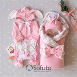 Комплект на выписку демисезонный (6 предметов) Sofuto baby Balerina