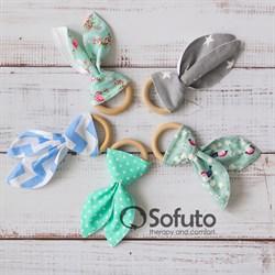 Прорезыватель Sofuto baby Милые ушки lime green