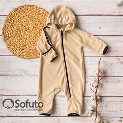 Комбинезон-поддёва Sofuto baby Fleece Cream