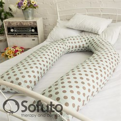 Чехол на подушку Sofuto UComfot Polka dot gray