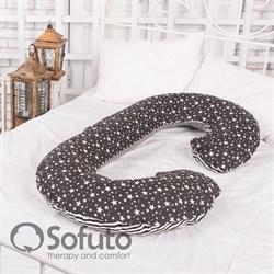 Подушка Sofuto CСompact Stars and stripes black