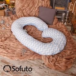 Чехол на подушку для беременных Sofuto CСompact Stars and waves blue sky