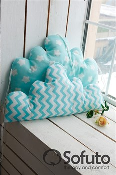 Бортик Sofuto Babyroom Cloud small Aqua