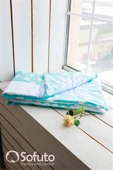 Одеяло стеганное Sofuto Babyroom Aqua + Blue sky patchwork