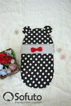 Конверт для новорожденного Sofuto Minnie black dots