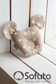 Подушка для новорожденного Sofuto Baby pillow Minnie latte