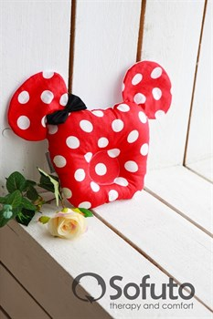 Подушка для новорожденного Sofuto Baby pillow Minnie red dots
