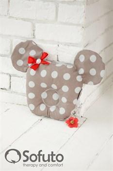 Подушка для новорожденного Sofuto Baby pillow Mouse Babynest Polka dot duble