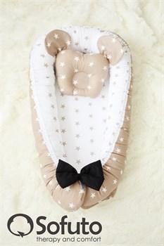 Кокон-гнездышко Sofuto Babynest Latte Dzhentlmen