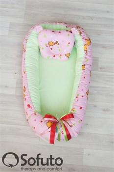 Кокон-гнездышко Sofuto Babynest Likes pink