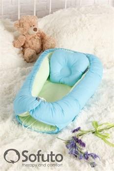 Кокон-гнездышко Sofuto Babynest Praline blue