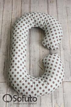 Чехол на подушку для беременных Sofuto CСompact Polka dot gray