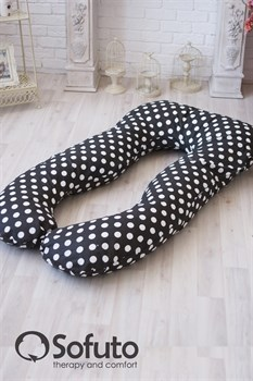 Чехол на подушку для беременных Sofuto UAnatomic Polka dot black