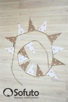 Гирлянда из ткани Sofuto Flags Latte