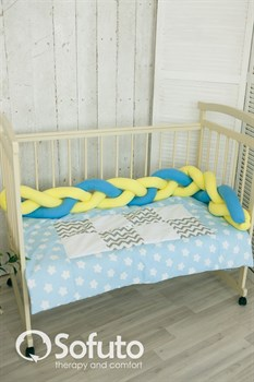 Бортик коса Sofuto Babyroom yellow and blue