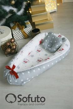 Кокон-гнездышко Sofuto Babynest Snow bear