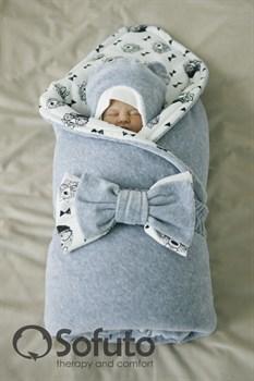 Комплект на выписку зимний (7 предметов) Sofuto baby Grey bears