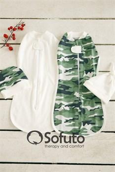 Комплект пеленок Sofuto Swaddler military