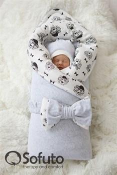 Комплект на выписку зимний (7 предметов) Sofuto baby Light grey bears