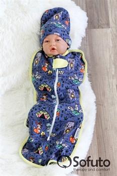 Шапочка hipster Sofuto Baby animals travellers