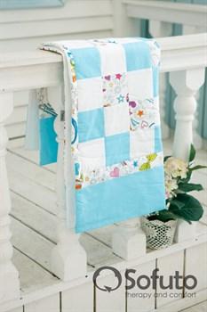 Одеяло стеганное Sofuto Babyroom Holiday white