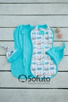 Комплект пеленок Sofuto Swaddler Bunny gray