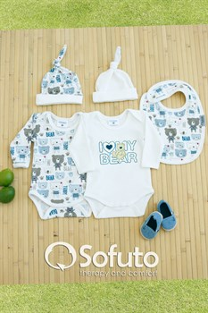 Комплект боди (5 предметов)  Sofuto baby teddy