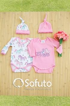 Комплект боди (4 предмета)  Sofuto baby unicorn