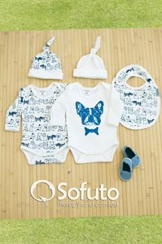 Комплект боди (5 предметов)  Sofuto baby dogs