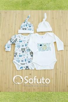 Комплект боди (4 предмета) Sofuto baby teddy