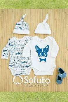 Комплект боди (4 предмета) Sofuto baby dogs