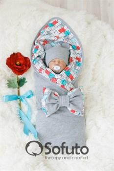 Комплект на выписку летний (5 предметов) Sofuto baby Kotyki