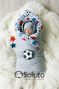 Комплект на выписку теплая осень (7 предметов) Sofuto Football