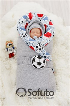 Комплект на выписку холодная зима (7 предметов) Sofuto baby Football