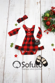 Комплект одежды 3 предмета Sofuto baby Red check
