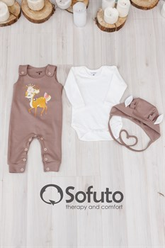 Комплект одежды 3 предмета Sofuto baby Bambi