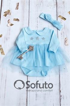 Боди-платье фатиновое Sofuto baby blue