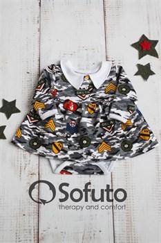 Боди детское с юбочкой Sofuto baby Military