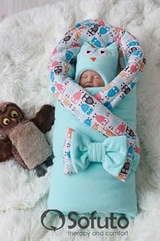 Комплект на выписку демисезонный (7 предметов) Sofuto baby Owl mint