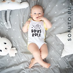 Боди короткий рукав Sofuto baby Boys rule