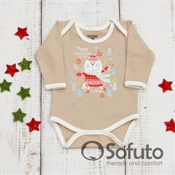 Боди детское Sofuto baby new year Latte
