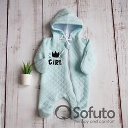 Комбинезон стеганый на подкладе Sofuto baby Little girl