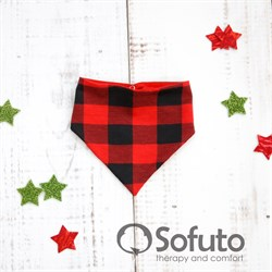 Арафатка на кнопке Sofuto baby Red check