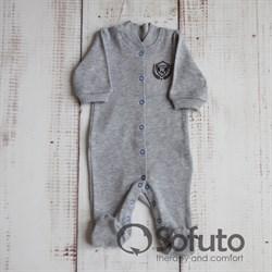 Слип на кнопках Sofuto baby Football gray