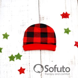 Шапочка Sofuto Baby Red check