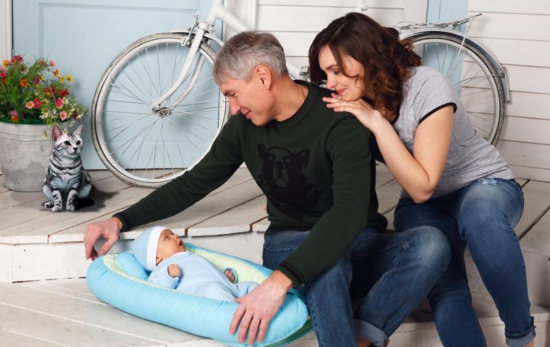 транспортабельное кокон гнездышко новорожденному младенцу