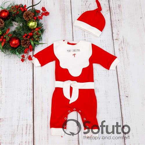 Комплект одежды 4 предмета Sofuto baby Santa - фото 10014