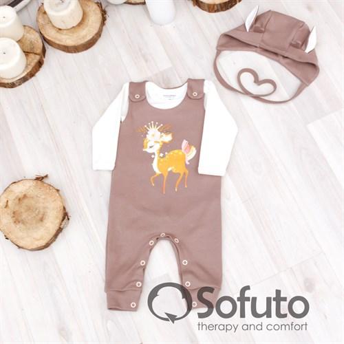 Комплект одежды 3 предмета Sofuto baby Bambi - фото 10015