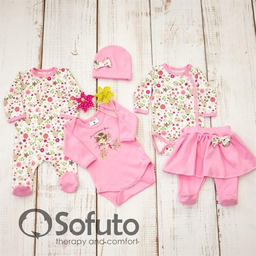 Комплект одежды 5 предметов Sofuto baby Flowers - фото 10020